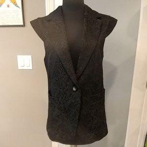 NWT Gracia Paisley Black Vest